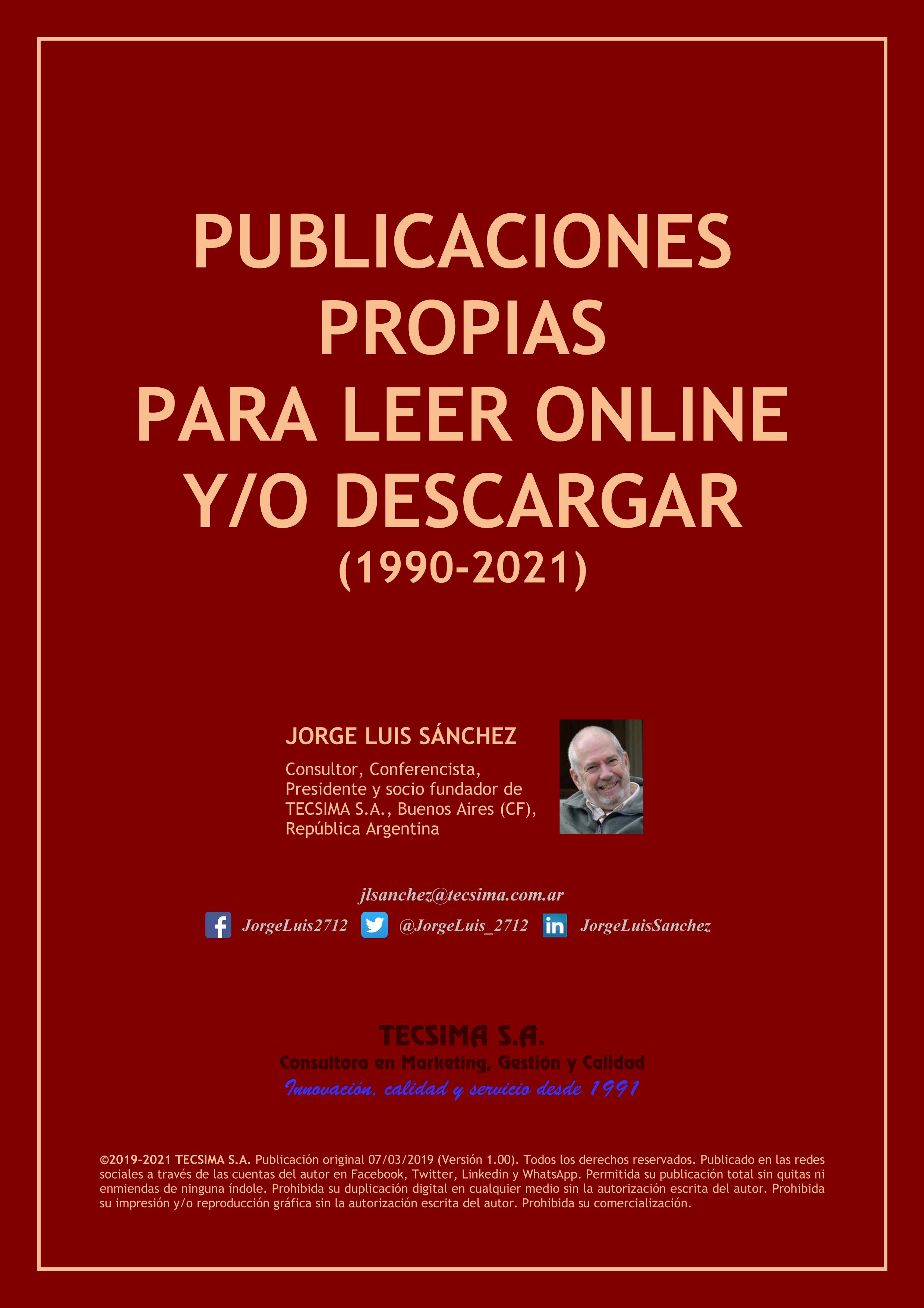 Carátula catálogo PUBLICACIONES PROPIAS PARA LEER ONLINE Y/O DESCARGAR